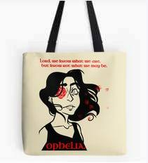 Hamlet Tote Bag: Ophelia quotation