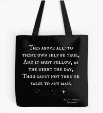 Hamlet Tote Bag: To thine own self