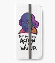 Hamlet iPhone Wallet: Action to the word